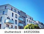 modern apartment buildings... | Shutterstock . vector #643520086