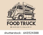 food truck logotype for... | Shutterstock .eps vector #643524388