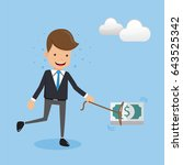 businessmen and money | Shutterstock .eps vector #643525342