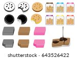 cookies  wafers and biscuits | Shutterstock .eps vector #643526422