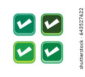 checklist yes color icon button ...   Shutterstock .eps vector #643527622