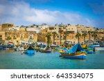 marsaxlokk  malta   traditional ... | Shutterstock . vector #643534075