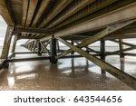 under the pier of saint jean de ...   Shutterstock . vector #643544656
