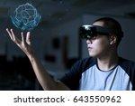 playing magic   virtual reality ... | Shutterstock . vector #643550962