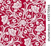 red seamless pattern with... | Shutterstock . vector #643570066
