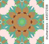 seamless pattern with floral...   Shutterstock . vector #643572508
