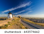 Road To Windmills In Consuegra...