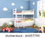 Children Room In Blue Walls...