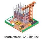 modern isometric construction... | Shutterstock .eps vector #643584622