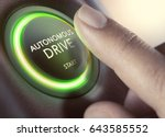 finger pressing a push button... | Shutterstock . vector #643585552