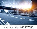 highway overpass motion blur... | Shutterstock . vector #643587535