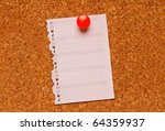 cork bulletin board with note | Shutterstock . vector #64359937
