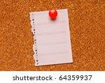 cork bulletin board with note | Shutterstock . vector #64359937
