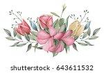 hand painted watercolor... | Shutterstock . vector #643611532