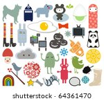 mix of different vector images. ... | Shutterstock .eps vector #64361470
