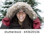 young attractive hispanic women ... | Shutterstock . vector #643620136