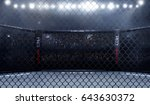 empty mma arena side view under ... | Shutterstock . vector #643630372