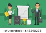 business concept businesswoman... | Shutterstock .eps vector #643640278