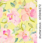 repeating flower pattern with... | Shutterstock . vector #643646272
