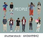 diversity people set gesture... | Shutterstock . vector #643649842