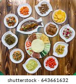 set of chinese food popular... | Shutterstock . vector #643661632