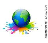 globe on a white background.... | Shutterstock .eps vector #64367764