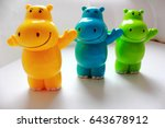 Smiling Hippos For Bath Fun