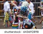 oruro  bolivia   february 26 ... | Shutterstock . vector #643692898