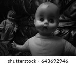 Black And White Creepy Doll