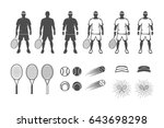 Set Of Vintage Tennis Players...