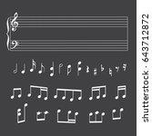 musical staff  notes  keys for... | Shutterstock .eps vector #643712872