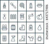 agriculture icons set.... | Shutterstock .eps vector #643717486