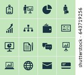 job icons set. collection of... | Shutterstock .eps vector #643719256