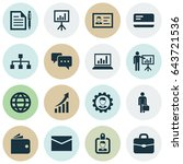 trade icons set. collection of... | Shutterstock .eps vector #643721536