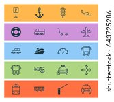 shipping icons set. collection... | Shutterstock .eps vector #643725286
