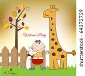 Welcome Baby Greeting Card Wit...