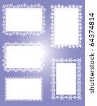crystal frame square | Shutterstock .eps vector #64374814