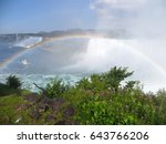 Small photo of The Niagara Falls - Horseshoe Falls and American Falls