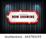 theater sign on curtain with... | Shutterstock .eps vector #643783195