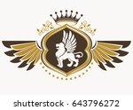 vintage decorative heraldic... | Shutterstock .eps vector #643796272