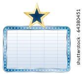 vector blue blank billboard... | Shutterstock .eps vector #64380451
