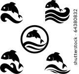 vector illustration of a fish.... | Shutterstock .eps vector #64380832