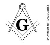black and white freemason... | Shutterstock .eps vector #643808866