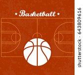 basketball court vector... | Shutterstock .eps vector #643809616