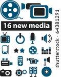 media signs. vector | Shutterstock .eps vector #64381291