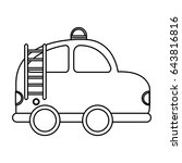 firefighter car drawing icon | Shutterstock .eps vector #643816816