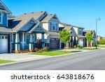 luxury house in vancouver ... | Shutterstock . vector #643818676