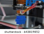 electronic three dimensional... | Shutterstock . vector #643819852