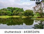 taiping lake in perak  malaysia ... | Shutterstock . vector #643852696