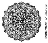 mandalas for coloring book.... | Shutterstock .eps vector #643861912